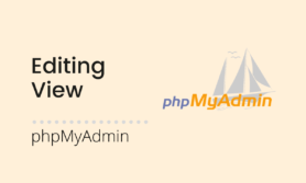 Edit and update MySQL view in phpMyAdmin