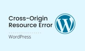 Cross-Origin Resource Sharing Policy Error
