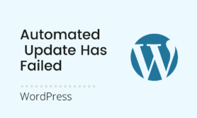 Read more about the article [Solved] an automated WordPress update has failed to complete – please attempt the update again now.