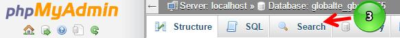 Search tab in phpMyAdmin
