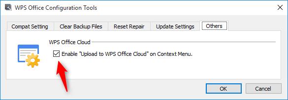 Disable WPS Office Context menu