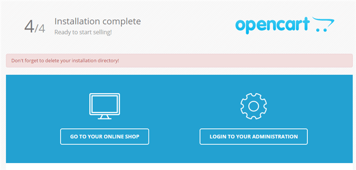 Opencart-installation-complete