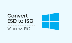 How to convert ESD to ISO