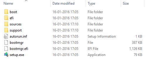 Windows 10 ISO Files View